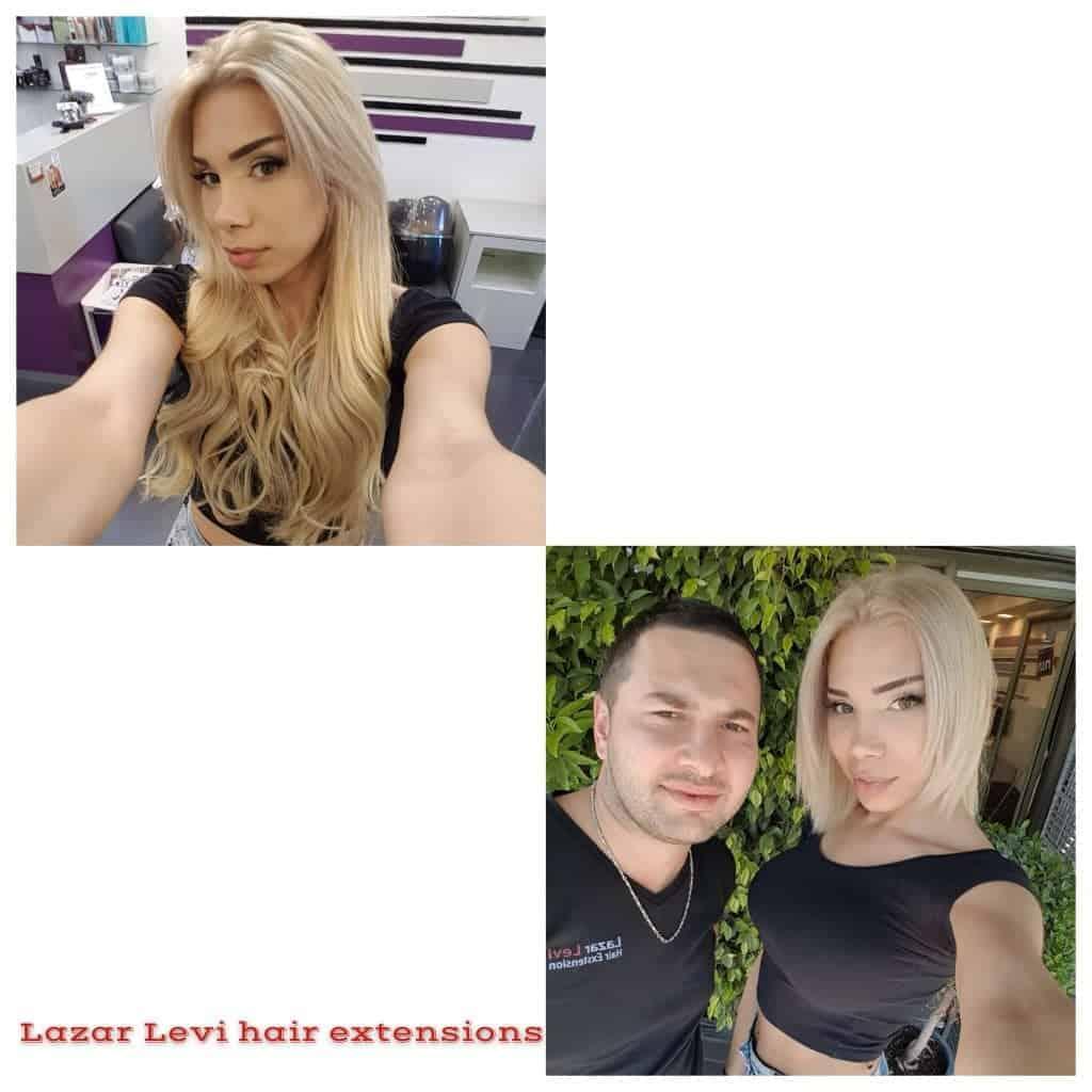 מילוי והארכת שיער בלונד - לפני ואחרי