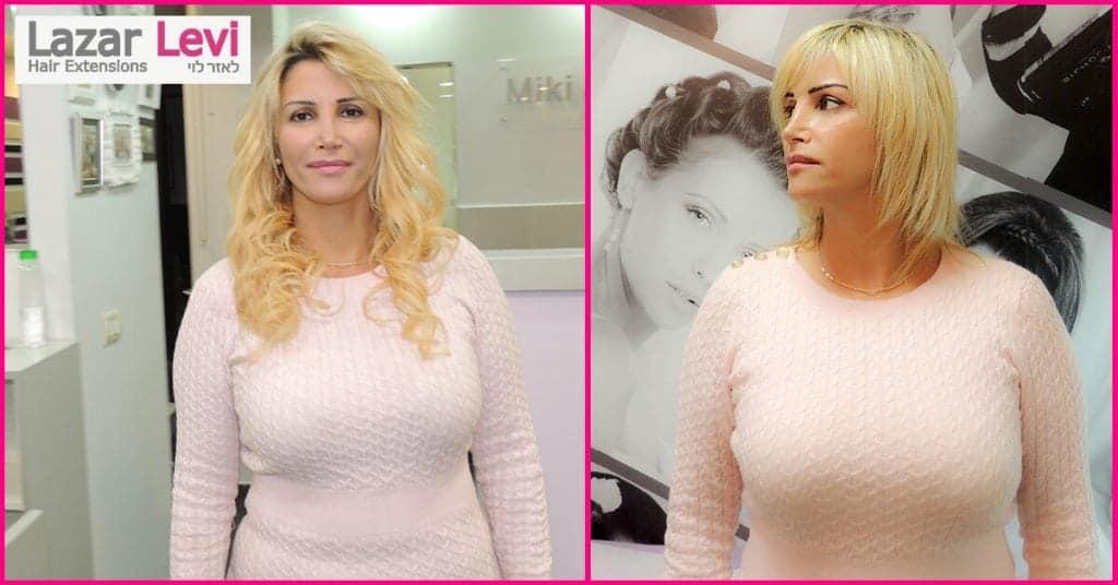 ענת מילוי שיער בלונד - לפני ואחרי