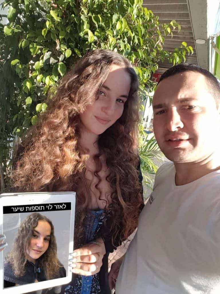 מילוי והארכת שיער לפני ואחרי