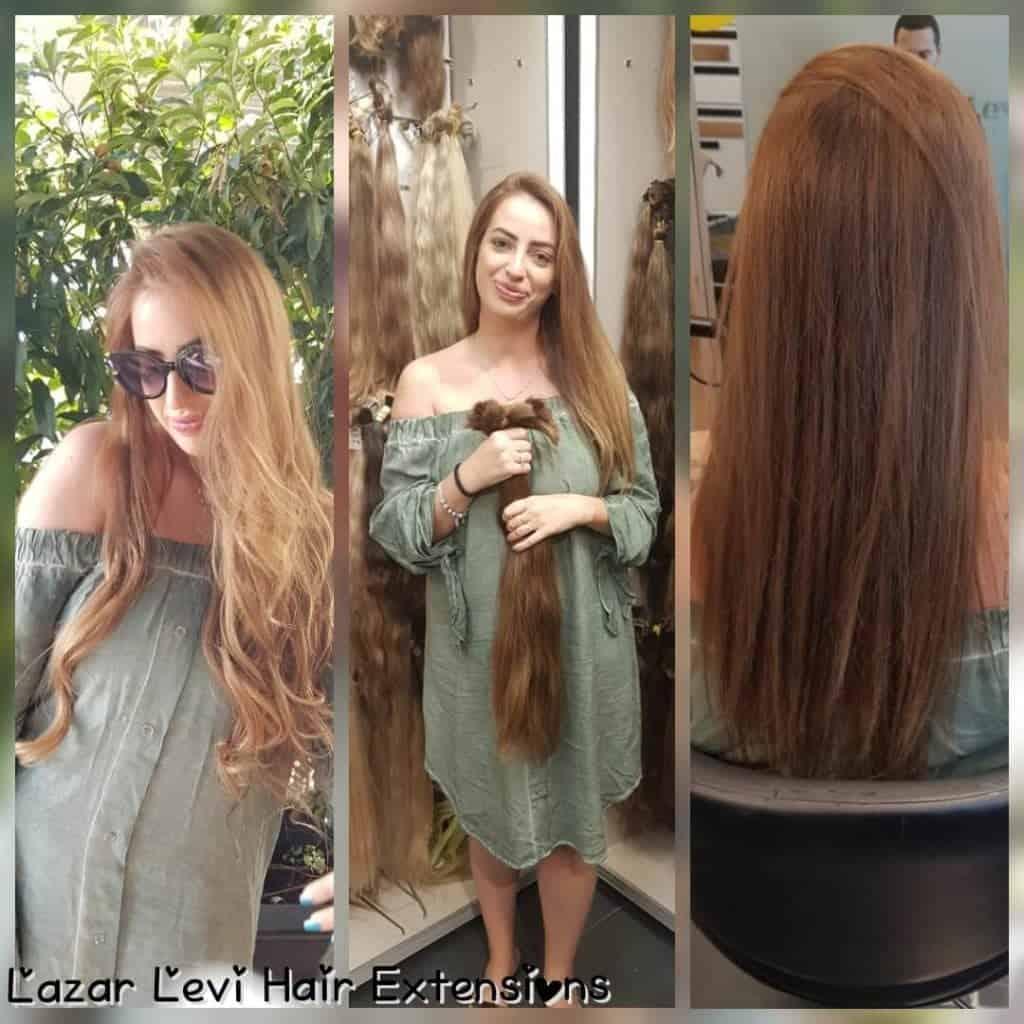 חן טל אושיית אינסטגרם - לפני ואחרי הארכת שיער טבעית