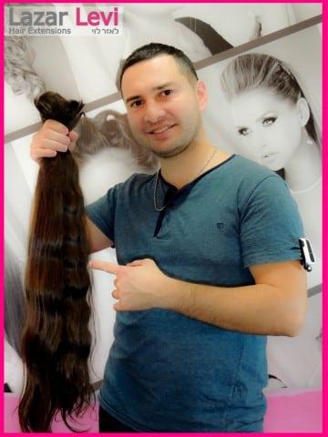 לאזר לוי עם תוספות שיער