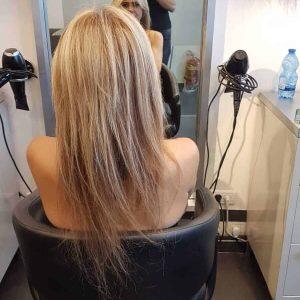 מילוי והארכת שיער בלונד