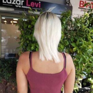 הארכת שיער בלונד